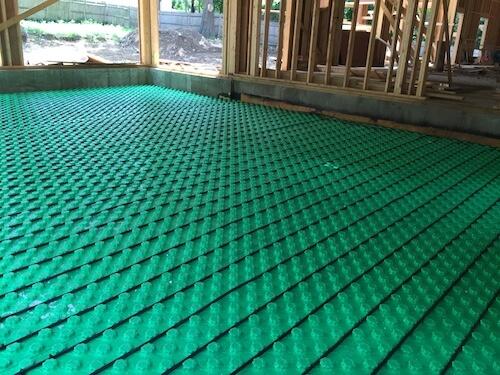 garage radiant flooring